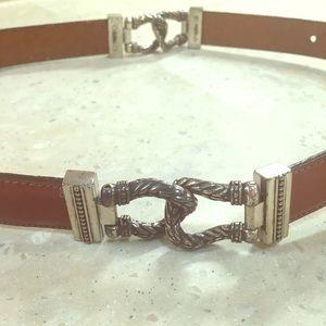 TALBOTS vintage 1996 leather belt